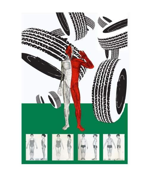"""Greenwashing/Fine Motor Control"" (2008) Digital Manipulation by Kyle McKinley"