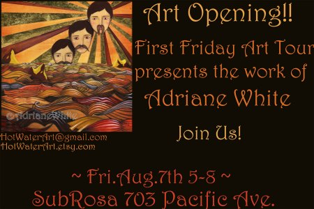 Adriene White Art Opening at SubRosa