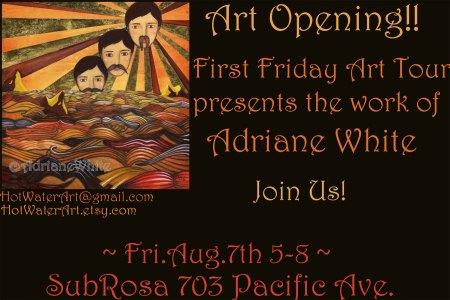 Adriene White Art Opening at SubRosa